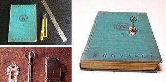 Trezor kniha | DIY návod na knihu s uzamykateľným tajným priečinkom