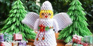 3D origami anjel z papiera | DIY návod ako vyrobiť vianočného anjela