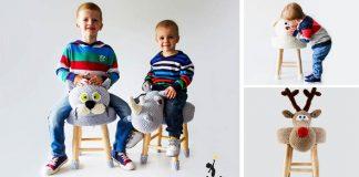 MAKUKA taburetky oblečené do háčkovaných zvieratiek | Handmade