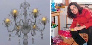 Lustre z PET fliaš | Veronika Richterová mení PET fľaše na lampy a lustre