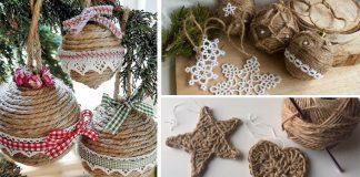Vianočné ozdoby zo špagátu | Kreatívne nápady na špagátové ozdôbky