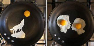 Michele Baldini pretvára vajíčka na dočasné umelecké diela   eggshibit
