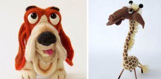 Handmade hračky z vlny | Pletené, háčkované, plstené Yolochkini Toys