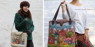 Handmade kabelky a tašky z filcu zdobené plstenými mestečkami