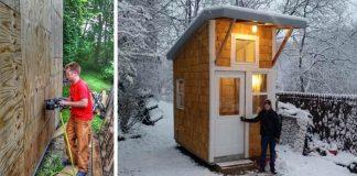 13-ročný chlapec Luke Thill si postavil vlastný mini domček
