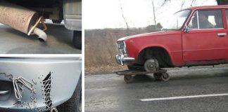 Podomácky opravené autá | 20 najvtipnejších a najhlúpejších opráv áut #1