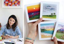 Vyšívané krajinomaľby ihlou, niťou a šikovnými rukami od Carolina Torres