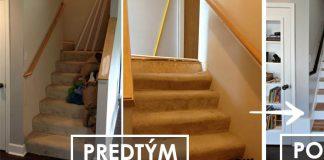 Renovácia schodiska | Kreatívny nápad ako vymeniť koberec za parkety