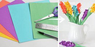 Papierové hyacinty | DIY nápady a návody na hyacinty z farebného papiera