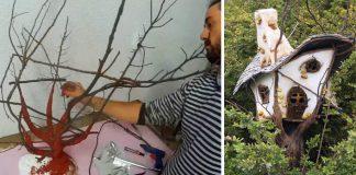 Originálna dekorácia v podobe rozprávkového stromodomu | DIY nápad