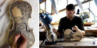 Ilustrované husle, ktoré spájajú dve formy umenia | Leonardo Frigo