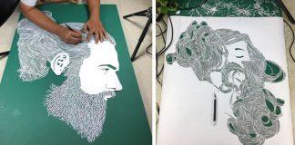 Účesy vyrezané z papiera | Papierové vyrezávanie Parth Kothekar