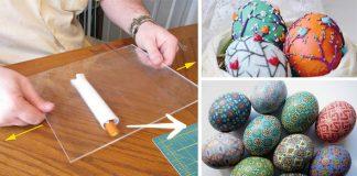 Veľkonočné vajíčka zdobené polymérovou hmotou | Polymérové kraslice