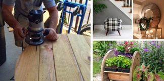 Nápady ako využiť staré drevené káblové bubny, cievky na kábel
