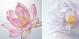 Ozdoby do vlasov zo živice a drôtu v podobe kvetín | Handmade Sakae