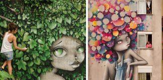 Vinie Graffiti tvorí na stenách graffiti žien s originálnymi účesmi