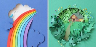 Papierovými kvietkami privoláva jar do malých papierových svetov