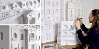 Papierové budovy inšpirované parížskou architektúrou | Camille Ortoli