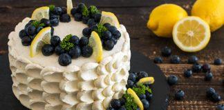 Čučoriedkovo-citrónová torta | Recept na osviežujúci dezert