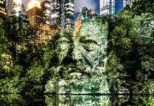 Portréty pomocou svetelných projekcií v Central Parku | Philippe Echaroux