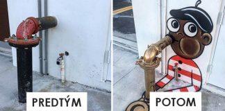Street art umelec Tom Bob nápadito premieňa fádne ulice svojimi maľbami