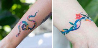 Tetovania hadov | Netradičné pestrofarebné hadie motívy od Zihee