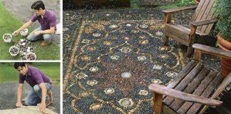 Ako vytvoriť jednoduchú kamienkovú mozaiku do záhrady