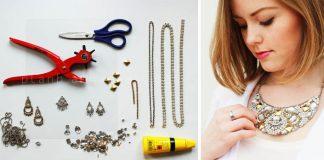 Návod na náhrdelník vyrobený zo starých nepoužívaných šperkov