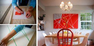 DIY návod, ako sa stať umelcom! | Obraz s geometrickými tvarmi