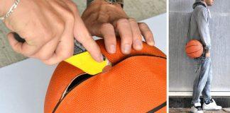 Taška z basketbalovej lopty | Originálny DIY nápad a návod ako na to