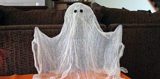 Lietajúci duch ako dekorácia | DIY nápad na Halloween
