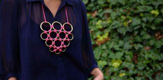 Náhrdelník z krúžkov ako neprehliadnuteľný doplnok outfitu | DIY návod