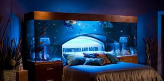 Akvárium nad posteľou