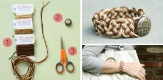 Ombré náramok pletený | DIY návod krok za krokom