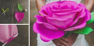 Papierové ruže | Návod ako vyrobiť ruže z krepového papiera