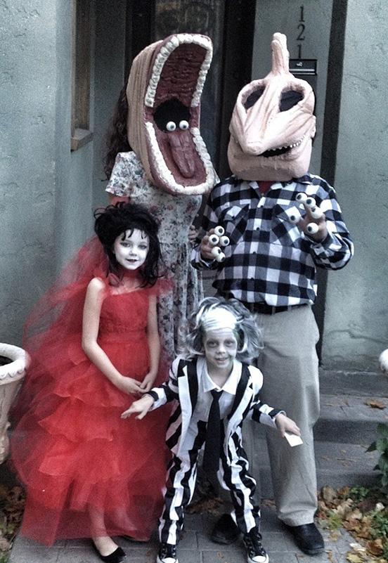 halloweensky kostym Beetlejuice Family