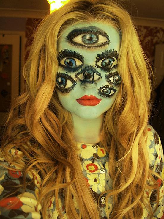 halloweensky kostym Halloween Makeup