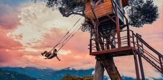 Hojdačka na konci sveta | Na okraji útesu v Ekvádore