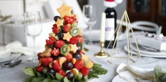 Vianočný stromček z ovocia a zeleniny | Nápady pre aranžérov jedla
