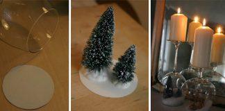 Snežítko a svietnik v jednom | DIY dekorácia na Vianoce