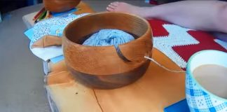 Drevená misa na vlnu | Kreatívny nápad a návod pre neposlušnú vlnu