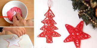 Vianočné ozdoby z vlny | Handmade nápady na dekorácie