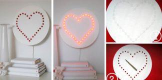Nástenná svietiaca lampa v tvare srdca | DIY návod
