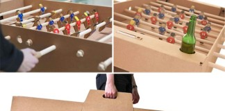 Kartoni: Prvý kartónový stolný futbal