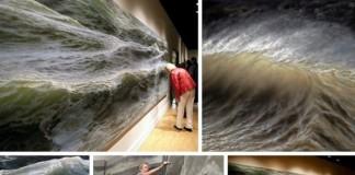 Fotorealistické maľby vĺn Ran Ortner