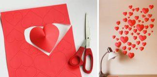 3D srdiečková dekorácia na stenu | DIY nápad a návod ako postupovať