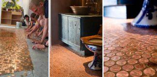 Podlaha z mincí | DIY nápad a návod na mincovú dlážku