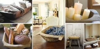 15 inšpirácií ako využiť drevené koryto | Kreatívne nápady