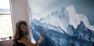 Realistické maľby ľadovcov od Zarie Forman
