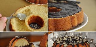 Bábovka plnená čokoládovým krémom | Recept